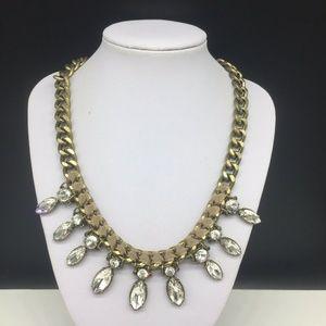Ann Taylor Loft Clear Rhinestone Necklace